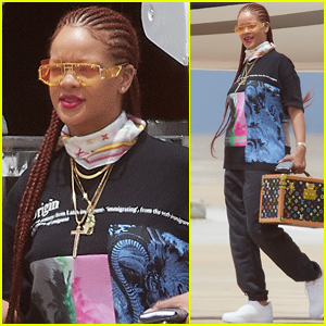 Rihanna Touches Down in Her Native Barbados!
