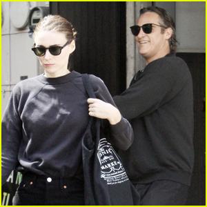 Rooney Mara & Joaquin Phoenix Stop By a Nail Salon Together