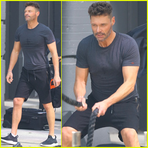 Ryan Seacrest Shows Some Muscle While Putting in Work at the Gym