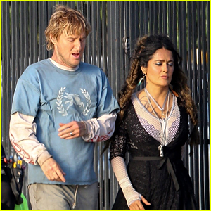 Salma Hayek & Owen Wilson Get Back to Work on 'Bliss'