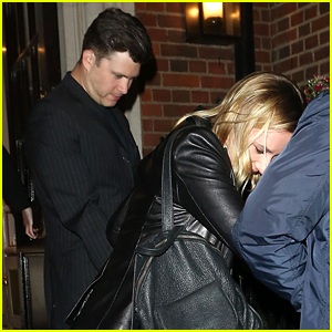 Scarlett Johansson & Colin Jost Enjoy a Low-Key Night in London