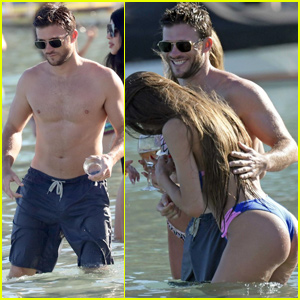 Scott Eastwood Goes Shirtless While Having Fun With Mystery Women in Mykonos