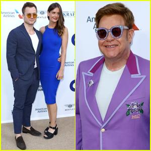 Taron Egerton & Girlfriend Emily Thomas Attend Elton John's Midsummer Party in France!