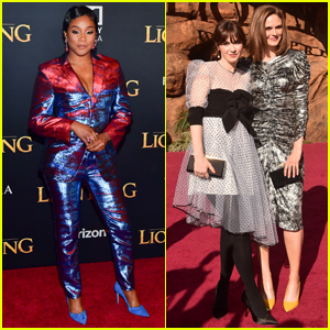 Tiffany Haddish Along with Zooey & Emily Deschanel Attend 'The Lion King' Premiere