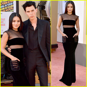 Austin Butler Gets Support From Vanessa Hudgens at 'Once Upon a Time in Hollywood' Premiere