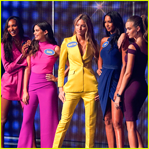 Martha Hunt Sets a Fast Money Record on 'Celebrity Family Feud'