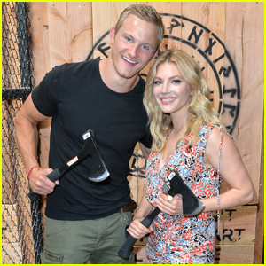 'Vikings' Stars Alexander Ludwig & Katheryn Winnick Throw Axes at Comic-Con 2019!