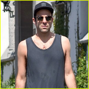 Zachary Quinto Takes His Dog for a Walk in L.A.