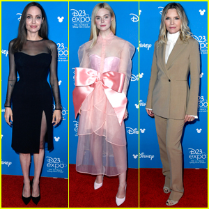 Angelina Jolie, Elle Fanning, & Michelle Pfeiffer Bring 'Maleficent 2' to D23 Expo 2019!