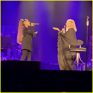 Ariana Grande Makes a Surprise Appearance at Barbra Streisand's Concert to Perform 'No More Tears' - Watch!