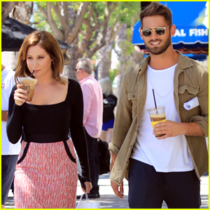 Ashley Tisdale Joins 'Carol's Second Act' Co-star Jean-Luc Bilodeau For Lunch