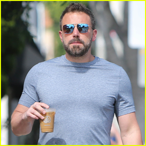 Ben Affleck Picks Up His Daily Iced Coffee in Los Angeles