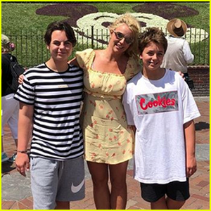 Britney Spears Spends the Day at Disneyland with Sons Sean & Jayden!