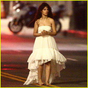 Camila Cabello Runs Barefoot Through L.A. Streets on Music Video Set!