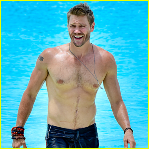 Chad Michael Murray Goes Shirtless During Trip to Turks & Caicos