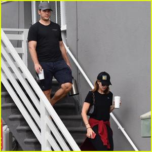 Chris Pratt & Katherine Schwarzenegger Meet Up For Morning Yoga Class!