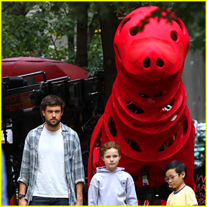 See Photos from 'Clifford the Big Red Dog' Live-Action Movie Set!
