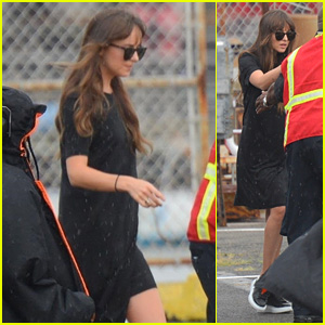 Dakota Johnson Boards a Helicopter With Chris Martin's Son Moses in NYC!