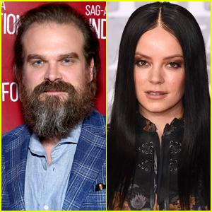 David Harbour & Lily Allen Spotted Getting Cozy at Boxing Match in London