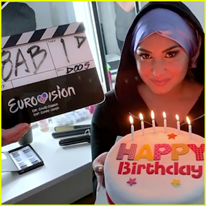 Demi Lovato Joins 'Eurovision' Movie, Spotted on Set!