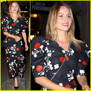 Dianna Agron Checks Out Jake Gyllenhaal's Broadway Play in Floral Dress