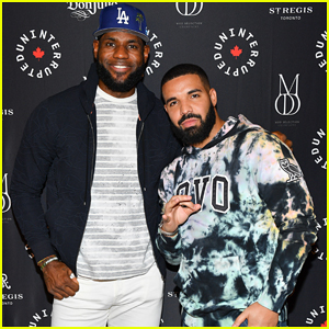 Drake Supports Lebron James at Uninterrupted Canada Launch!