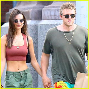 Emily Ratajkowski Bares Her Abs During Day Out with Husband Sebastian Bear-McClard