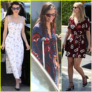Emma Roberts, Nina Dobrev (on Crutches!), & More Attend Jennifer Klein's Day of Indulgence!