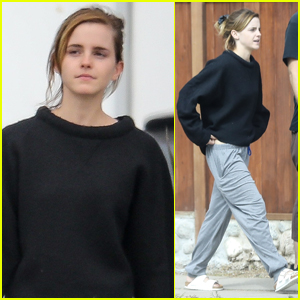 Emma Watson Meets Up with a Friend for Brunch