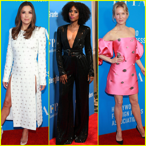 Eva Longoria, Kerry Washington, & Renee Zellweger Step Out for Hollywood Foreign Press Banquet