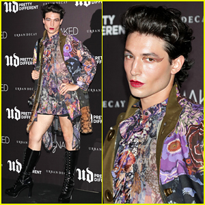 Ezra Miller Rocks Mini-Dress for Urban Decay's Pretty Different Launch in Seoul!