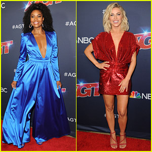 Gabrielle Union & Julianne Hough Rock Patriotic Colors at Latest 'AGT' Taping