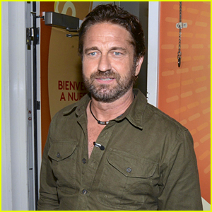 Gerard Butler Visits 'Despierta America' at Univision in Miami
