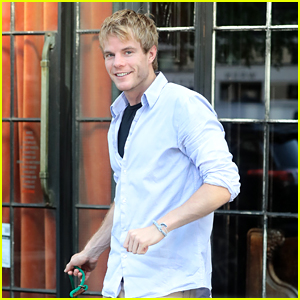 Graham Rogers Takes His Cute Dog for a Walk in NYC