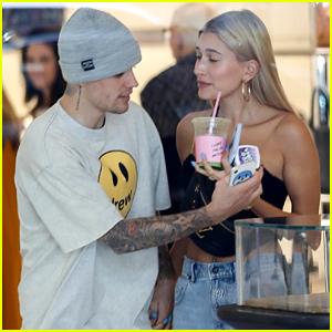 Justin & Hailey Bieber Shop Around Barneys New York in LA