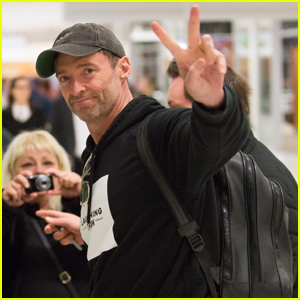 Hugh Jackman Greets Fans While Arriving at Australian Airport!