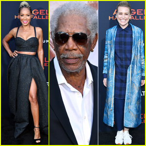 Jada Pinkett Smith, Morgan Freeman, & Piper Perabo Step Out for 'Angel Has Fallen' Premiere!
