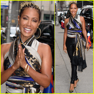 Jada Pinkett Smith Rocks Leather Pants for Day Out in NYC
