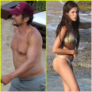 James Franco & Girlfriend Isabel Pakzad Hit the Beach in Mykonos!