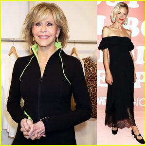 Jane Fonda Presents New Activewear Collection at MAGIC Convention in Las Vegas!