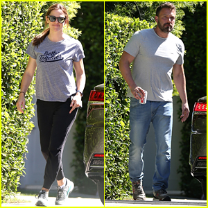 Jennifer Garner Wears a 'Better Together' Shirt While Visiting Ex Ben Affleck at Home