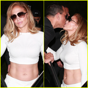 Jennifer Lopez Bares Toned Abs During Dinner Date with Alex Rodriguez!