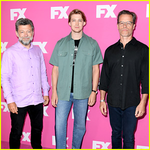 Joe Alwyn & Guy Pearce Promote 'A Christmas Carol' with Andy Serkis at FX TCA Press Day