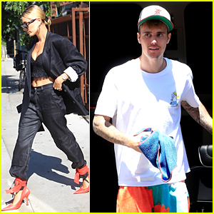 Justin Bieber & Wife Hailey Have a Busy Day in L.A., Separately
