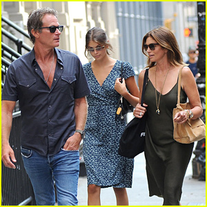 Cindy Crawford & Rande Gerber Meet Up With Daughter Kaia in NYC