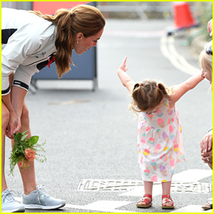 This Photo of a Child Bowing to Kate Middleton Goes Viral for How Cute It Is!