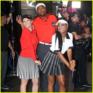 Keke Palmer, Michael Strahan & Sara Haines Play Mini-Golf in NYC
