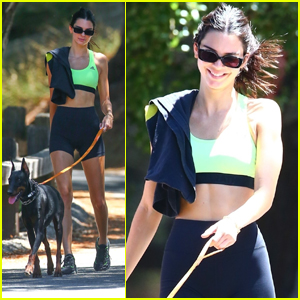Kendall Jenner Bares Her Toned Midriff on a Hike with Friends