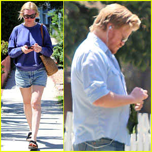 Kirsten Dunst & Fiance Jesse Plemons Take Their Dog for a Walk