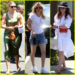 Kristen Bell, Kaley Cuoco, & Debra Messing Get Pampered at the Day of Indulgence!